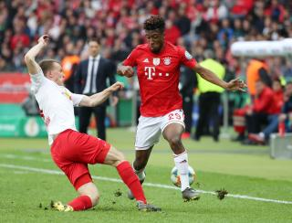 Lukas Klostermann (left) and Kingsley Coman (right).