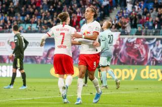 Marcel Sabitzer and Yussuf Poulsen.