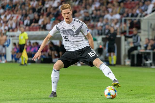 Marcel Halstenberg volleyed home his first goal for Germany tonight.