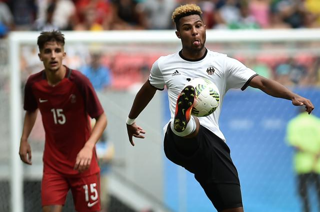 Serge Gnabry playing for Germany at the Olympics in 2016.