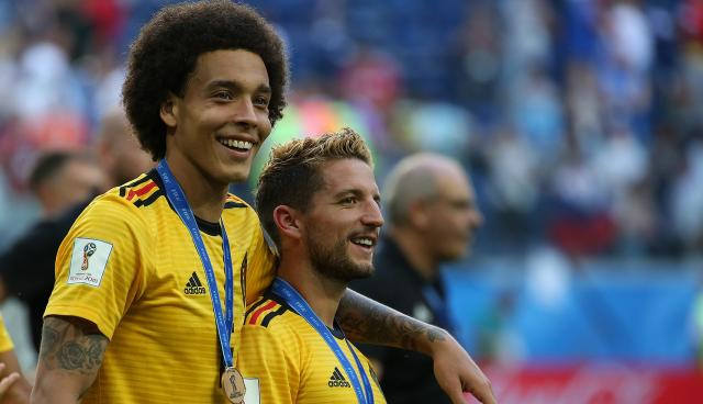 Axel Witsel (left) with Dries Mertens.