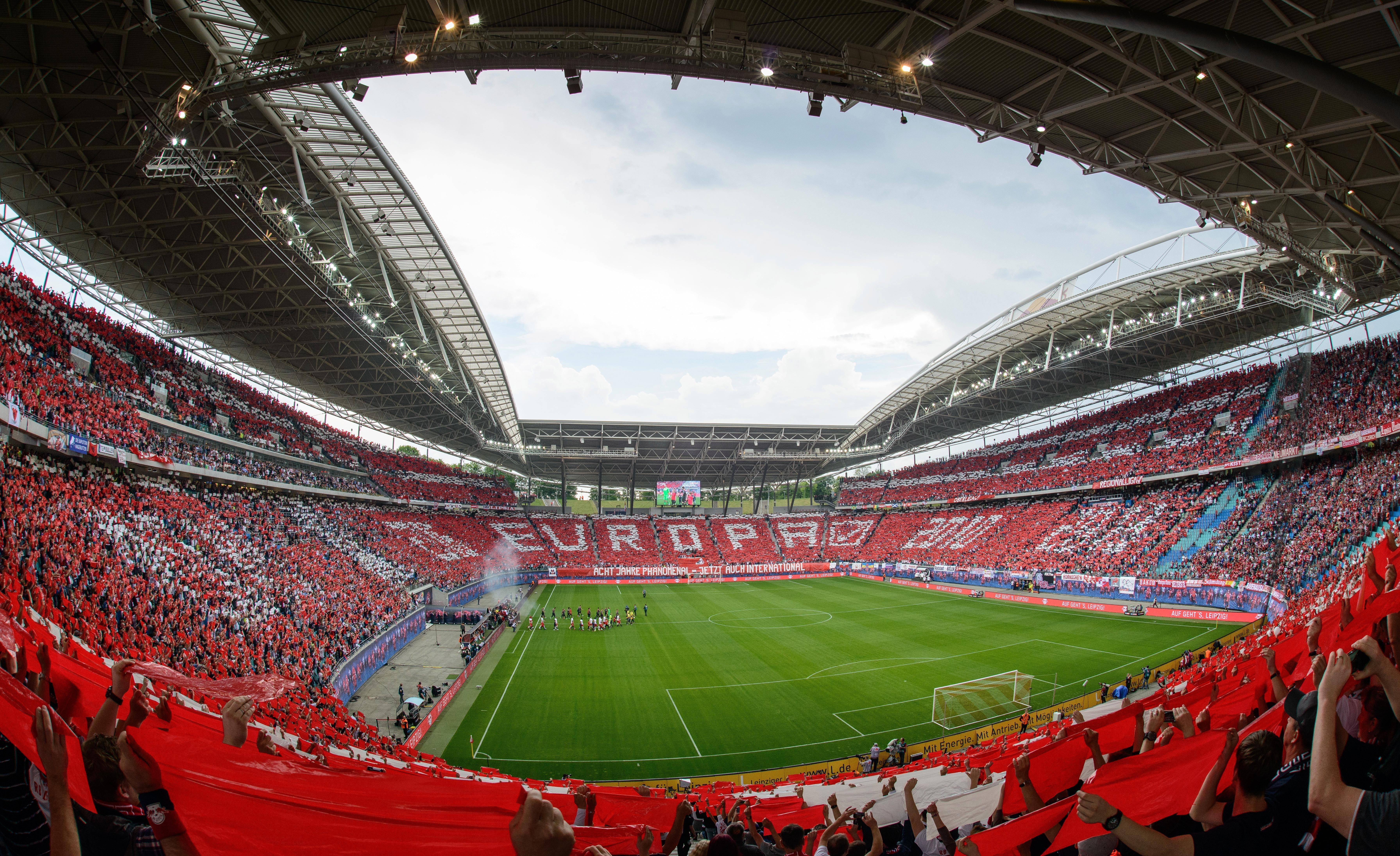 Bundesliga Fans In The Stadium Rb Leipzig Say Ja